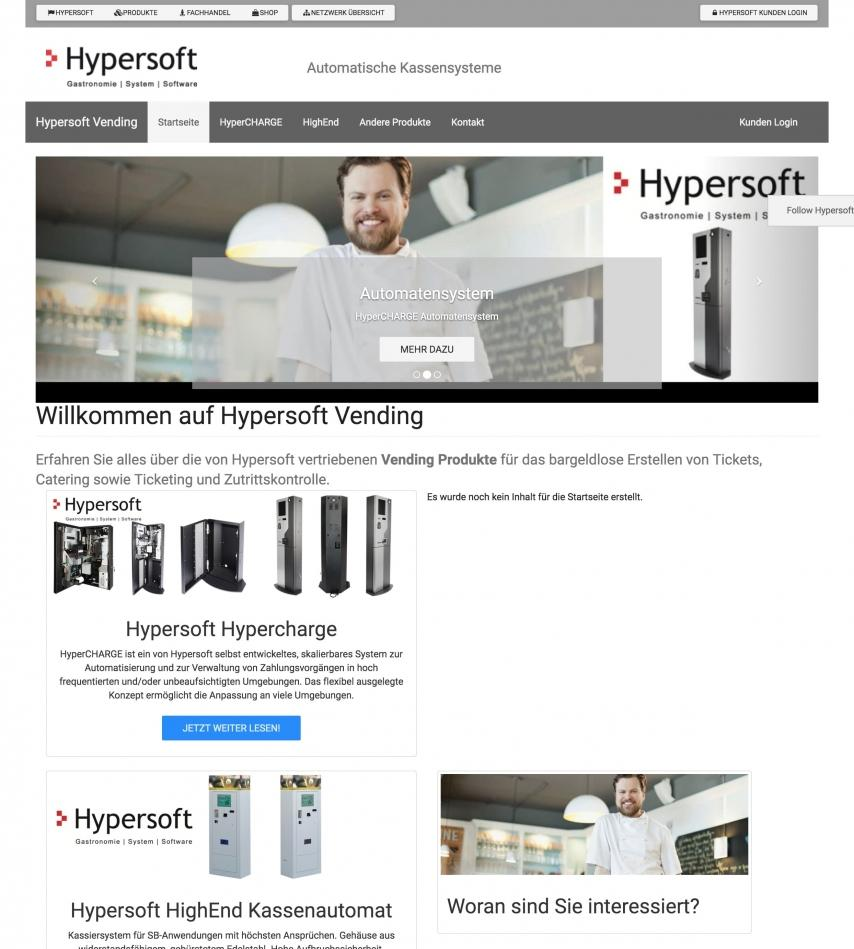 Hypersoft Vending Machines Website
