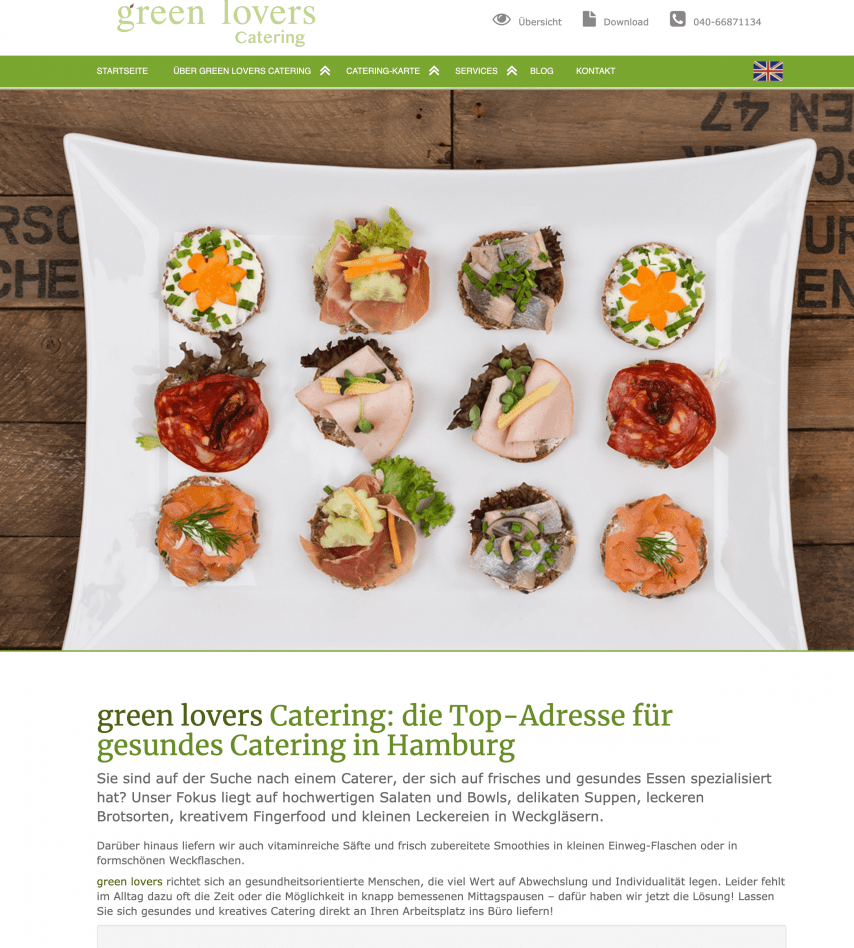 greenlovers-catering.de SEO 2017