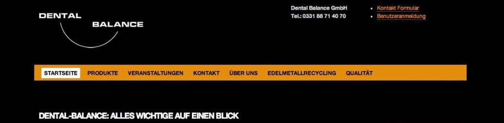 Dental-Balance Website Relaunch 2012