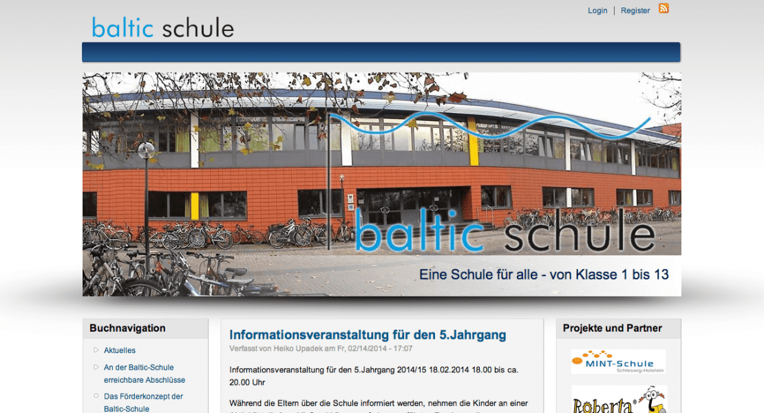 Baltic Schule Lübeck Website 2011