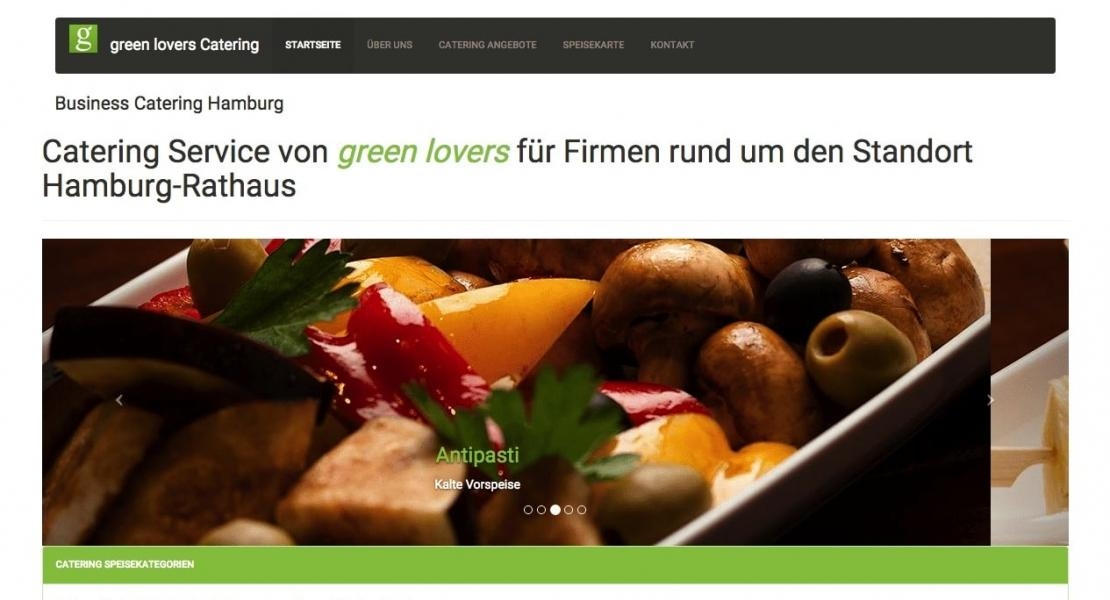 Online-Marketing Beratung green lovers Catering 2015
