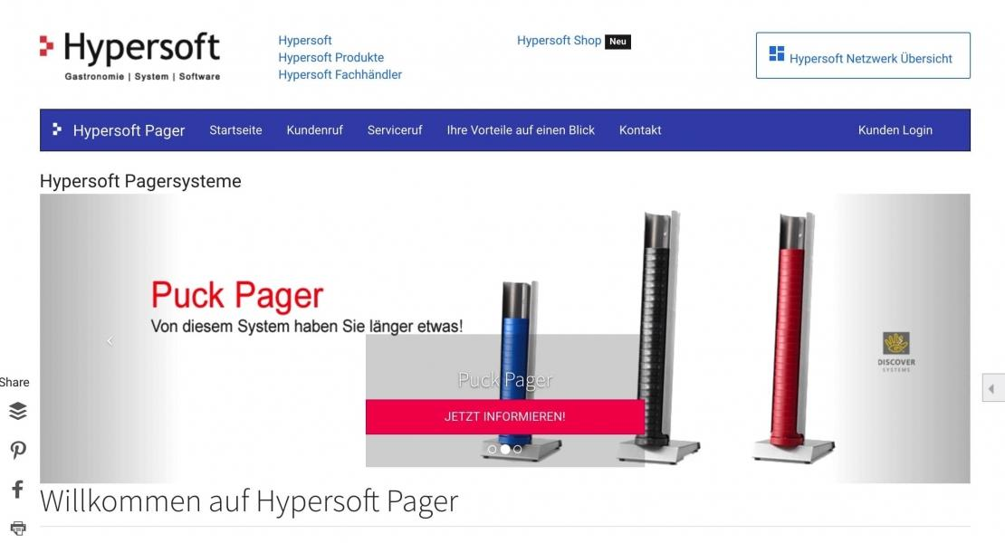 Hypersoft Pager Produktinfo Website