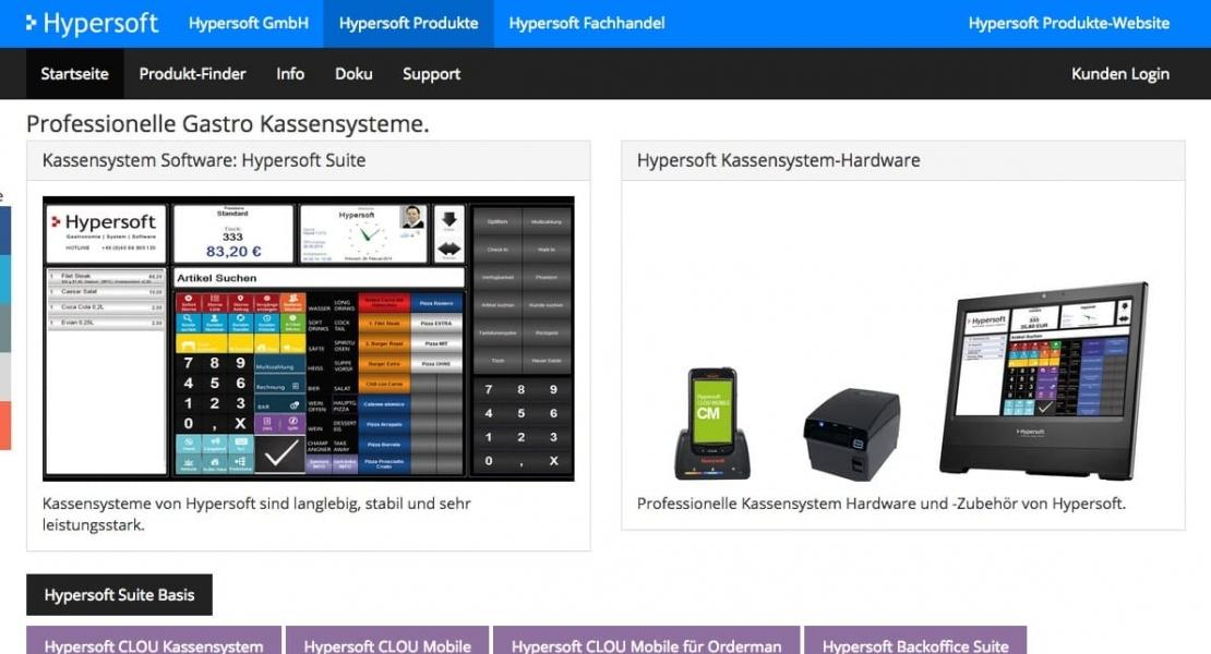 Hypersoft Produkte Website 2014