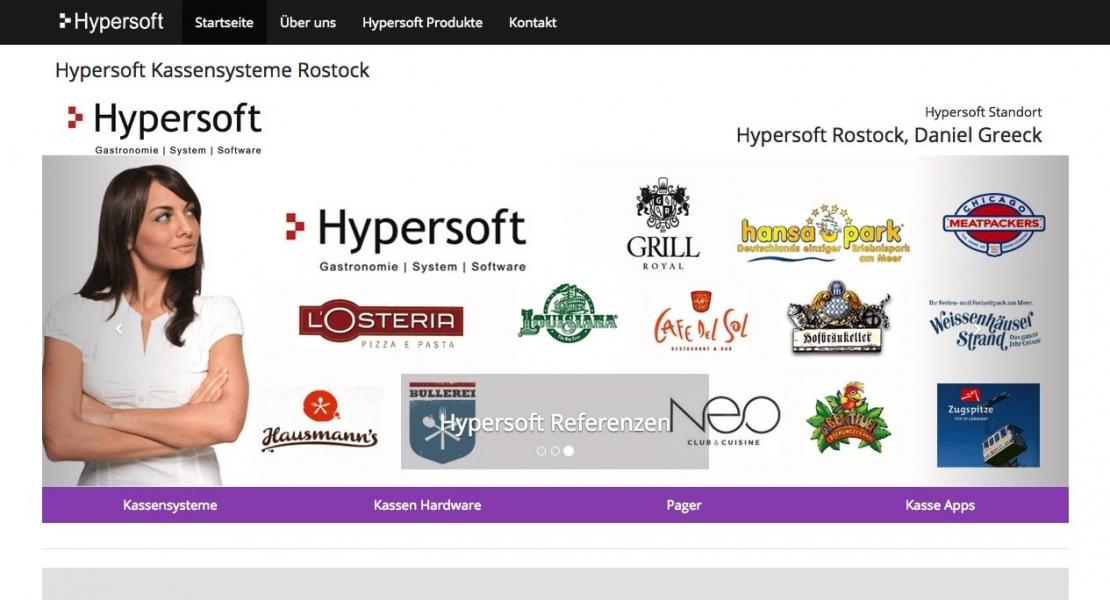 Hypersoft Standortwebsite Rostock