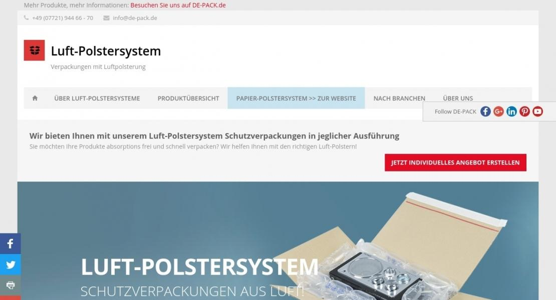Luftpolster-Systeme Website
