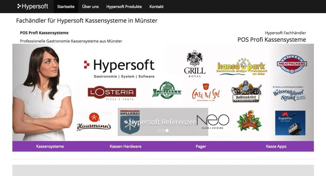 Hypersoft Fachhändler Posprofi Website