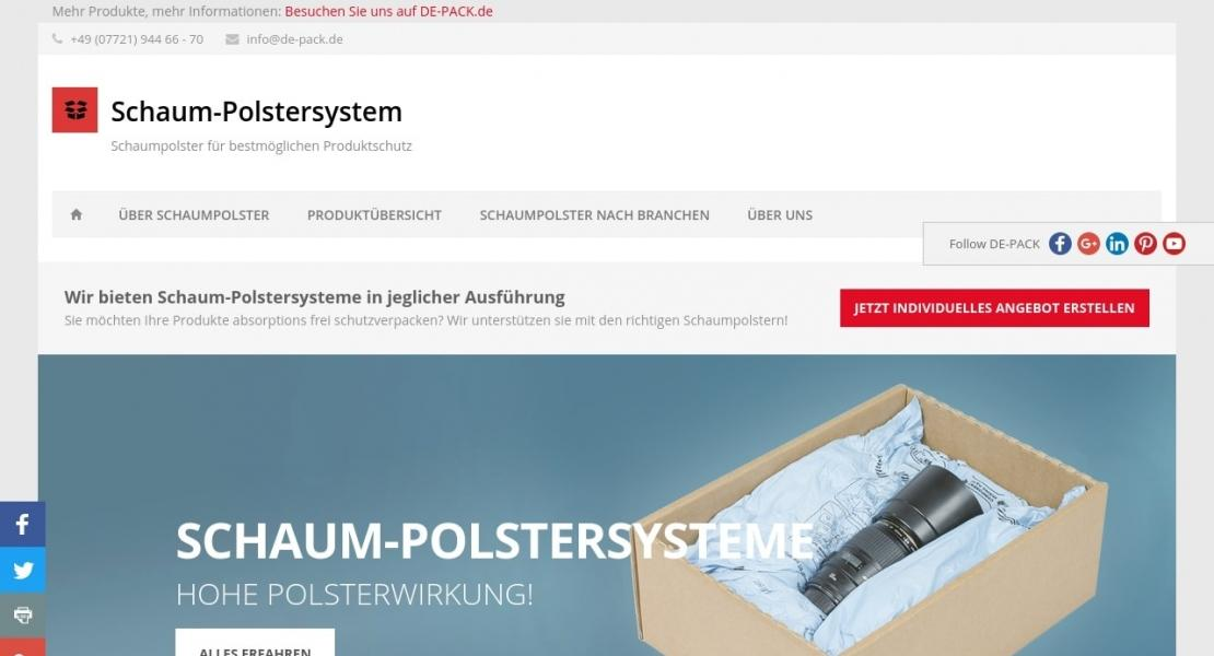 Schaum-Polstersysteme Info Website