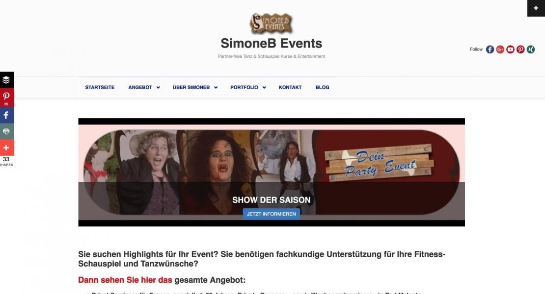SimoneB Events Relaunch 2016