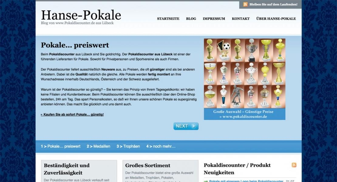 Hanse-Pokale SEO Website