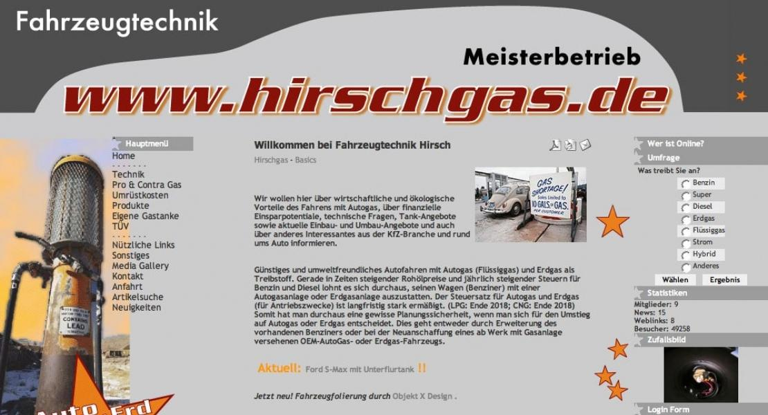 Hirschgas Website 2006