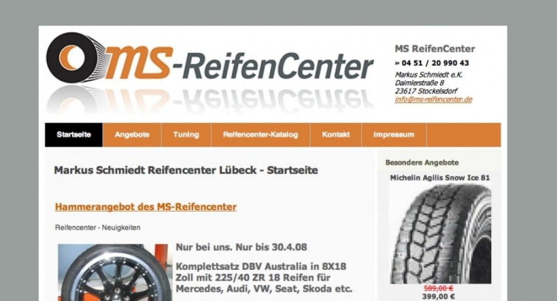 MS Reifencenter Website 2008