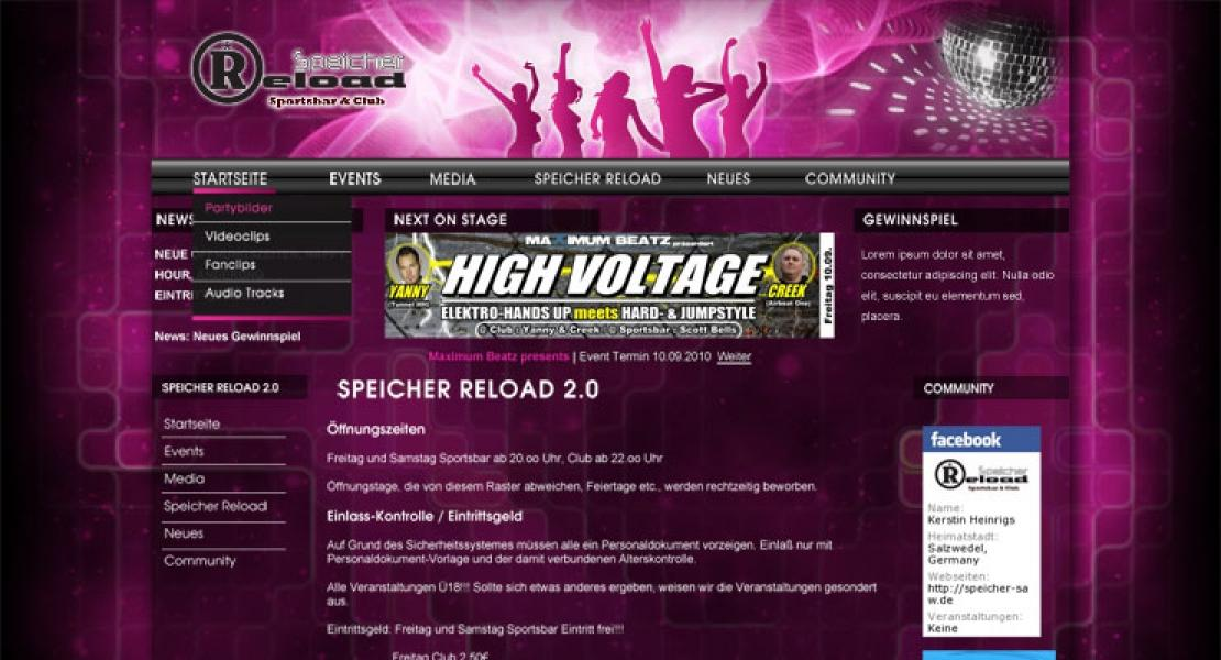 speicher-saw.de Website Relaunch 2011